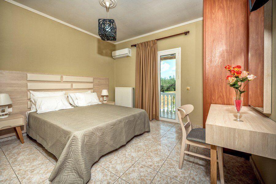 Zakynthos private pool villas Eleon bedroom