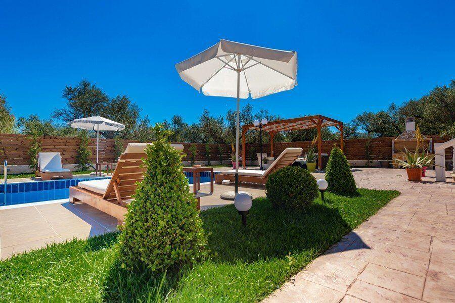 Zakynthos private pool villas Eleon garden