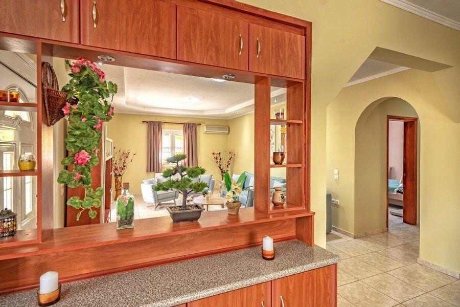 Zakynthos private pool villas Eleon kitchen